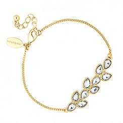 Jon Richard - Polished gold crystal teardrop bracelet
