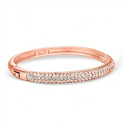 Jon Richard - Rose gold crystal embellished dome bangle