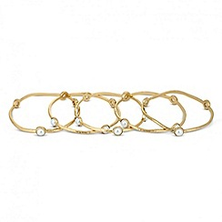 Jon Richard - Set of five pearl encased gold bangles
