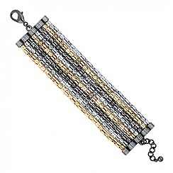 Jon Richard - Triple tone multi row chain bracelet