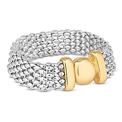 Jon Richard - Two tone magnetic clasp bracelet