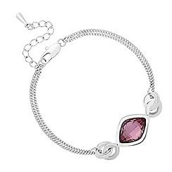 Jon Richard - Antique pink lemon fancy drop bracelet MADE WITH SWAROVSKI ELEMENTS