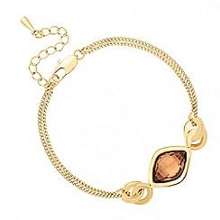 Jon Richard - Topaz lemon fancy drop bracelet MADE WITH SWAROVSKI ELEMENTS
