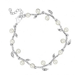 Jon Richard - Pearl and crystal leaf bracelet