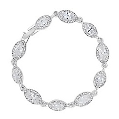 Alan Hannah Devoted - Designer cubic zirconia surround peardrop bracelet