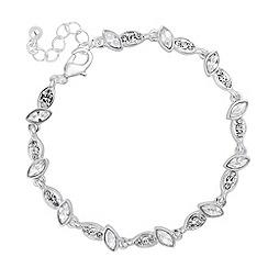 Jon Richard - Crystal navette link chain bracelet