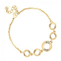 Jon Richard - Gold crystal twist link bracelet