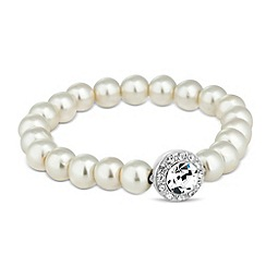 Jon Richard - Clara crystal stone pearl stretch bracelet