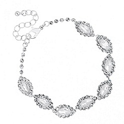 Jon Richard - Diamante surround navette link bracelet
