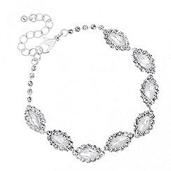 Jon Richard - Diamante surround navette link bracelet