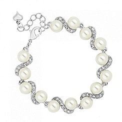 Jon Richard - Pearl and crystal twist link bracelet