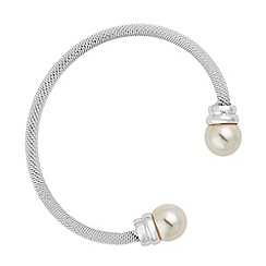 Jon Richard - Cream pearl mesh chain cuff