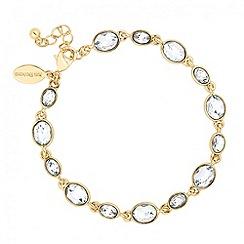 Jon Richard - Oval stone gold surround bracelet