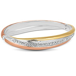 Jon Richard - Crystal encased triple tone bangle