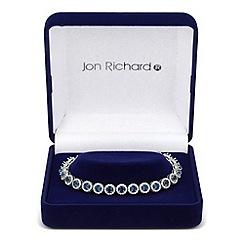 Jon Richard - Clara blue cubic zirconia round link bracelet