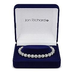Jon Richard - Clara clear cubic zirconia round link bracelet