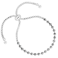 Jon Richard - Round crystal silver link friendship bracelet