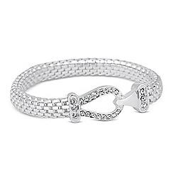 Jon Richard - Crystal link mesh chain stretch bracelet