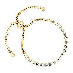 Jon Richard - Round crystal gold link friendship bracelet