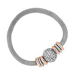 Jon Richard - Rose gold disc magnetic mesh chain bracelet