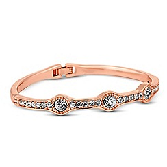 Jon Richard - Round crystal embellished rose gold bangle