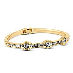 Jon Richard - Round crystal embellished gold bangle