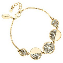 Jon Richard - Two tone crystal disc link bracelet