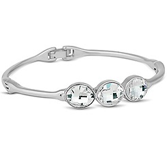Jon Richard - Triple leaf crystal bangle MADE WITH SWAROVSKI ELEMENTS