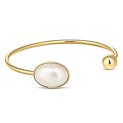 Jon Richard - Online exclusive pearl encased polished gold cuff