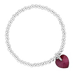 Jon Richard - Paradise shine crystal heart stretch bracelet MADE WITH SWAROVSKI ELEMENTS