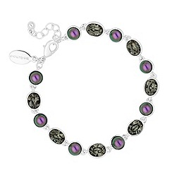 Jon Richard - Blackberry pearl and grey crystal link bracelet MADE WITH SWAROVSKI ELEMENTS