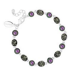 Jon Richard - Blackberry pearl and grey crystal link bracelet MADE WITH SWAROVSKI ELEMENTS