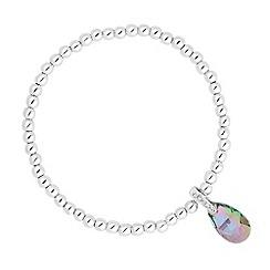 Jon Richard - Paradise shine crystal teardrop stretch bracelet MADE WITH SWAROVSKI ELEMENTS