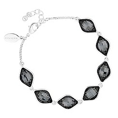 Jon Richard - Silver night crystal lemon fancy bracelet MADE WITH SWAROVSKI ELEMENTS