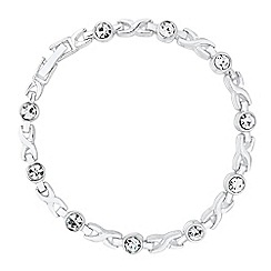 Jon Richard - Round crystal stone cross link bracelet