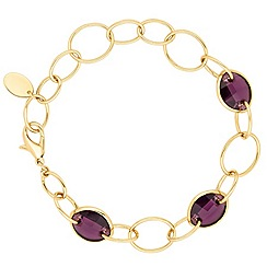 Jon Richard - Amethyst crystal leaf bracelet MADE WITH SWAROVSKI ELEMENTS