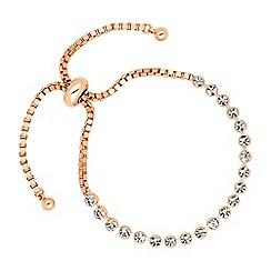 Jon Richard - Round crystal rose gold link friendship bracelet