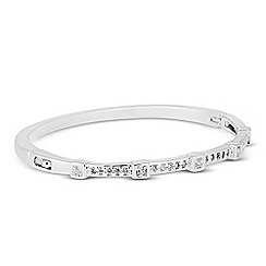 Jon Richard - Square cubic zirconia embellished bangle