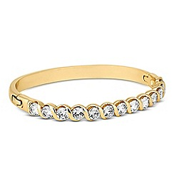 Jon Richard - Cubic zirconia gold swirl bangle
