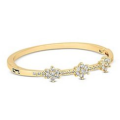 Jon Richard - Cubic zirconia triple flower gold bangle