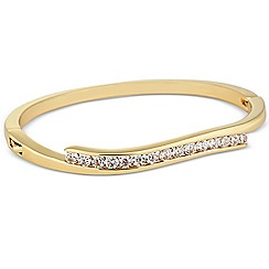Jon Richard - Cubic zirconia encased gold wave bangle