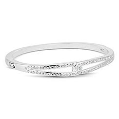 Jon Richard - Crystal embellished silver interlocked bangle