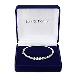 Jon Richard - Graduated cubic zirconia set bangle