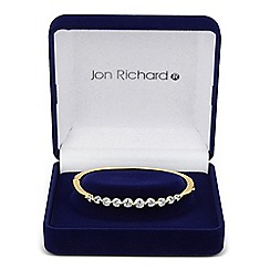 Jon Richard - Graduated cubic zirconia stone set gold bangle