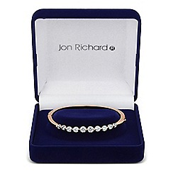 Jon Richard - Graduated cubic zirconia stone set rose gold bangle