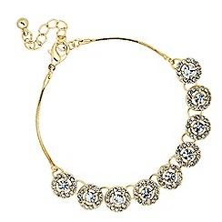 Jon Richard - Clara gold crystal round link bracelet