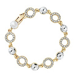 Jon Richard - Round crystal and ring link bracelet MADE WITH SWAROVSKI ELEMENTS