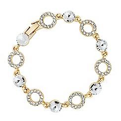 Jon Richard - Round crystal and ring link bracelet MADE WITH SWAROVSKI ELEMENTS