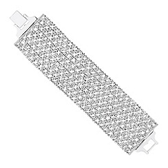 Jon Richard - Wide diamante crystal statement bracelet