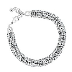 Jon Richard - Statement diamante crystal twist bracelet